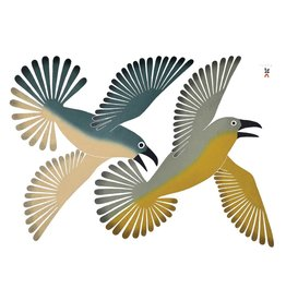Dancing Ravens by Kenujuak Ashevack Matted