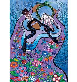 Dancing with hummingbirds by Pam Cailloux Matted