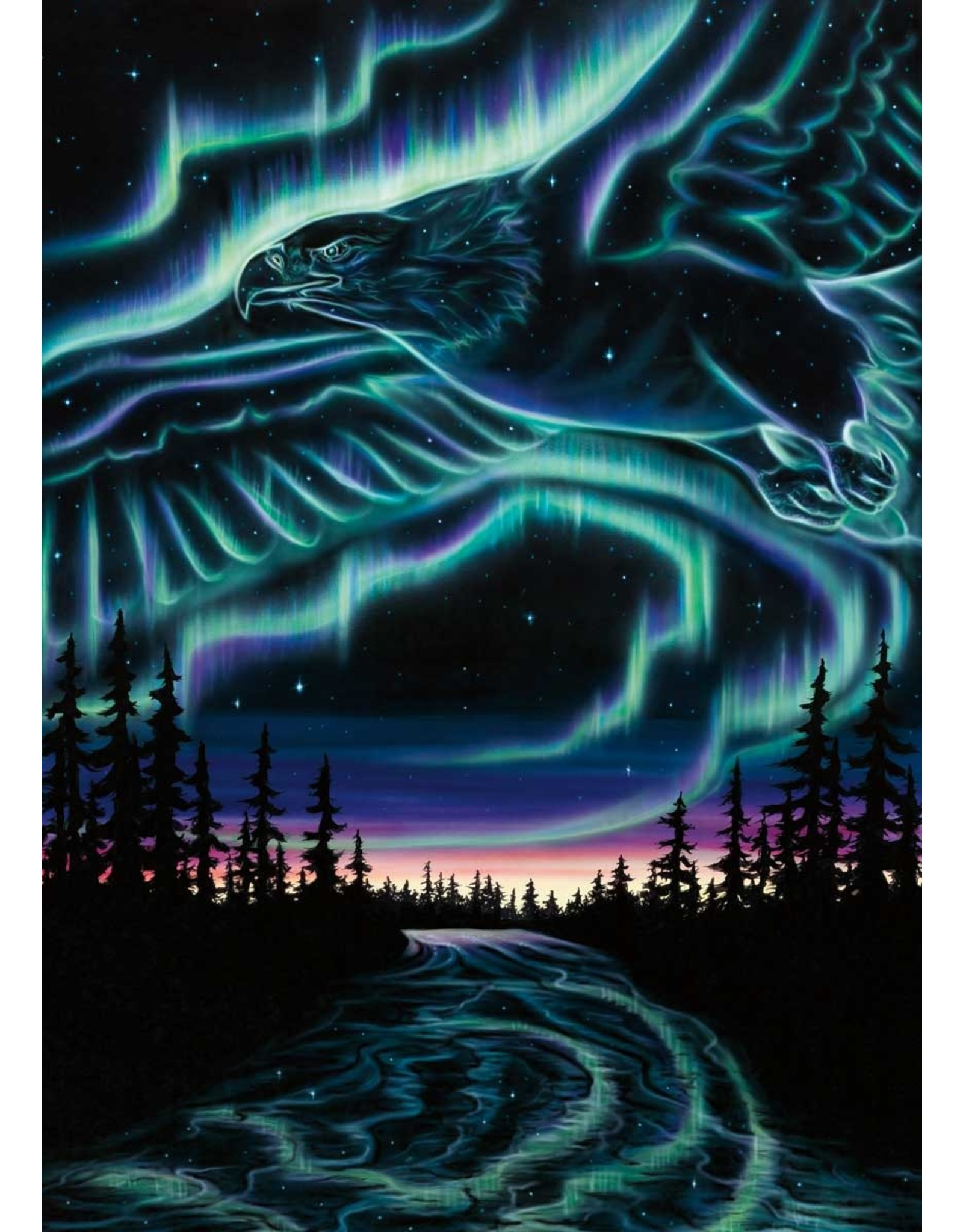 Skydance-Eagles Over The Sky by Amy Kellar-Rempp Matted