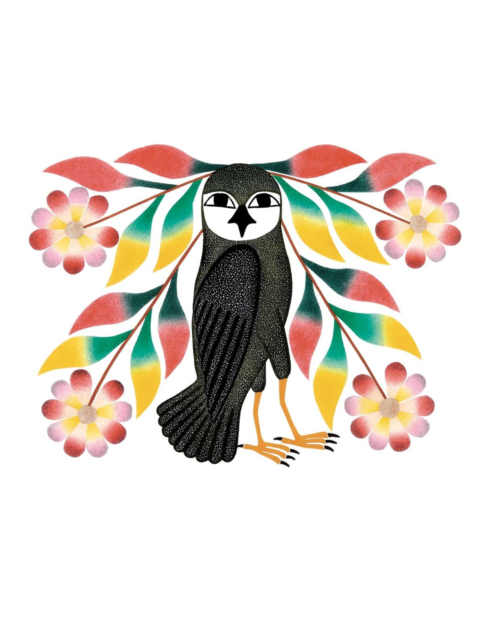 Owl's Bouquet, 2007 by Kenojuak Ashevak Framed