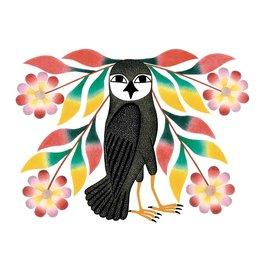 Owl's Bouquet, 2007 par Kenojuak Ashevak Encadrée