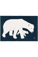 Bears on Blue by Kananginak Pootoogok Framed