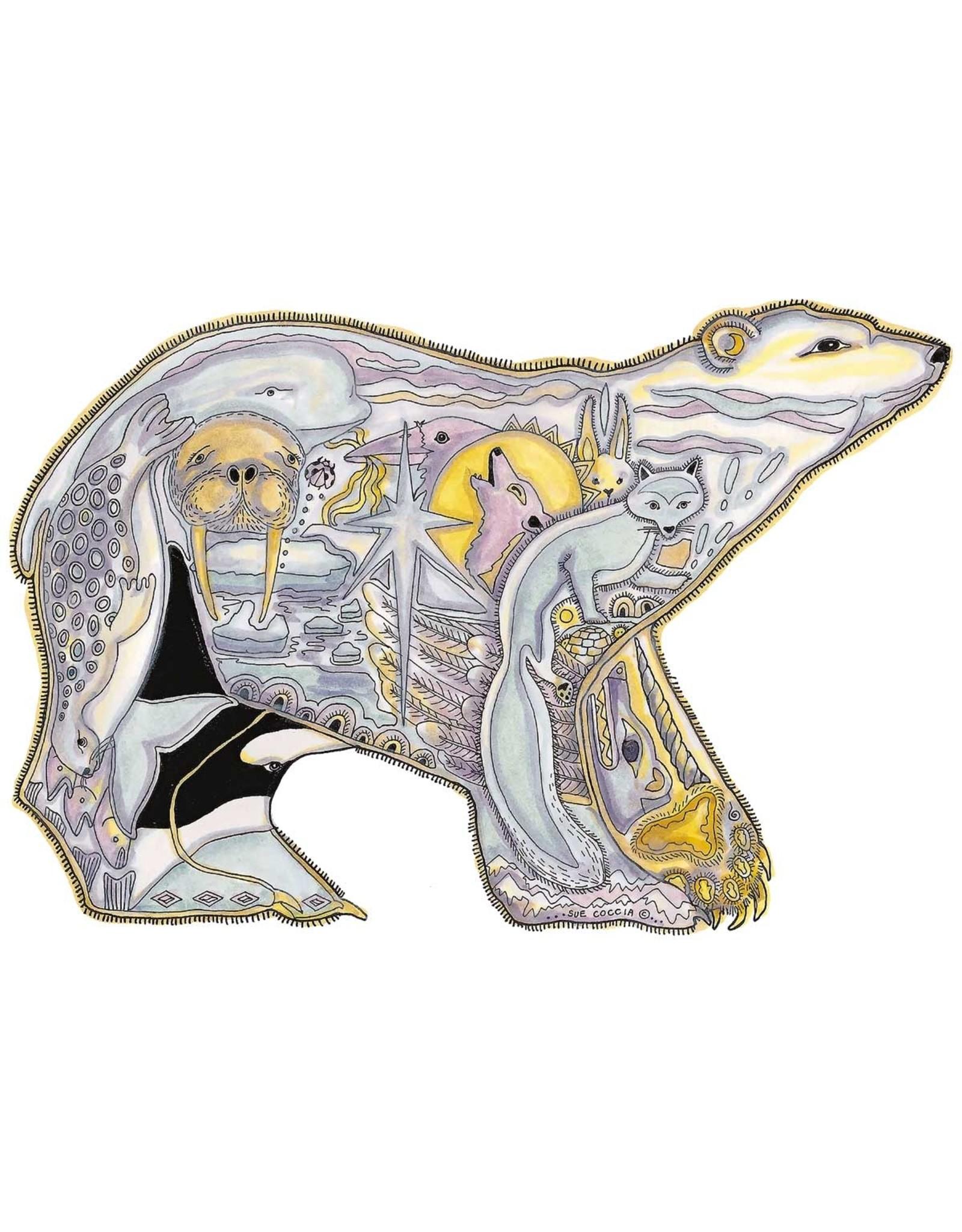 Polar Bear by Sue Coccia Framed