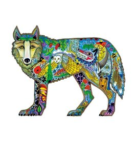 Wolf Standing by Sue Coccia Framed