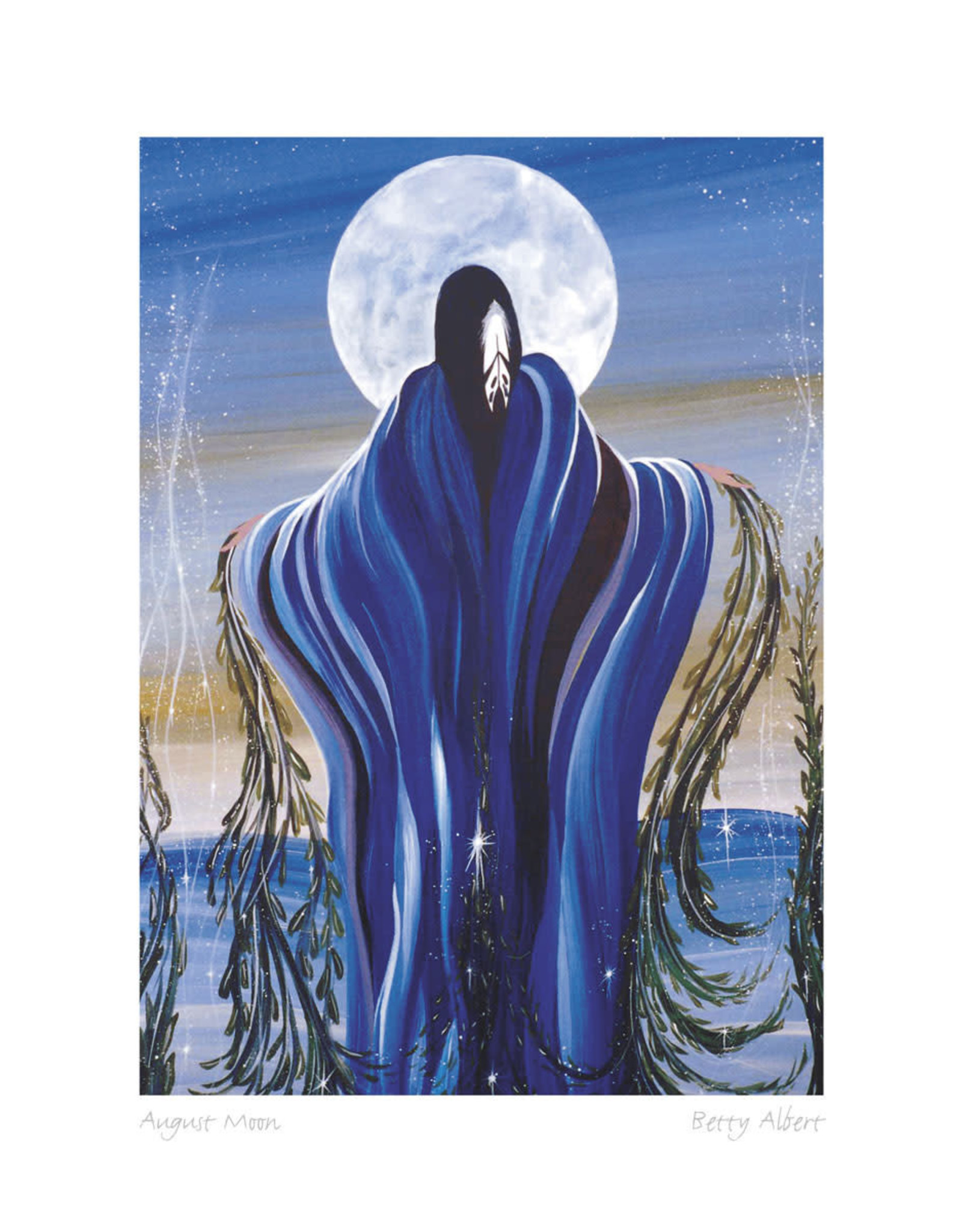 August Moon par Betty Albert Encadrée