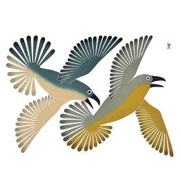 Dancing Ravens by Kenojuak Ashevak Framed