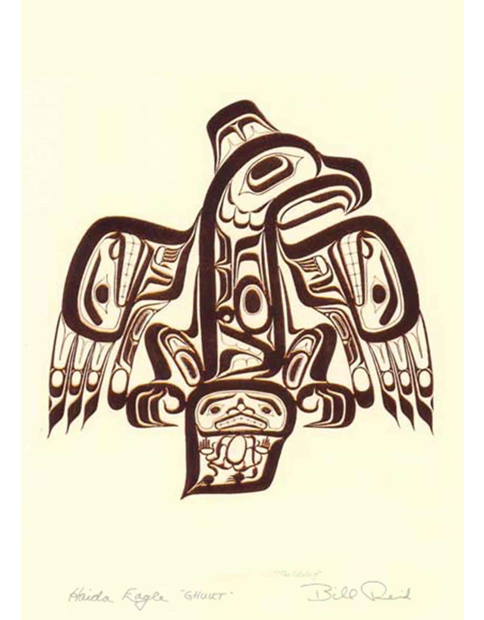 Haida Eagle Ghuut by Bill Reid Framed