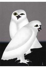 Unnuarsiut Uppiik (Night Owls) by Kananginak Pootoogook Framed