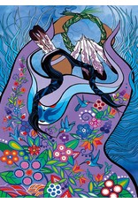 Dancing with hummingbirds par Pam Cailloux Encadrée