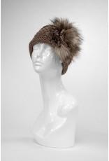 Knit Headband with Fox Trim - HBHB01