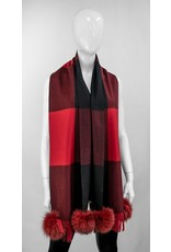 Red and Black Checkered Scarf - SC0755