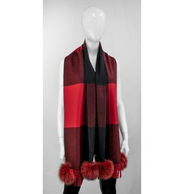 Red and Black Checkered Scarf