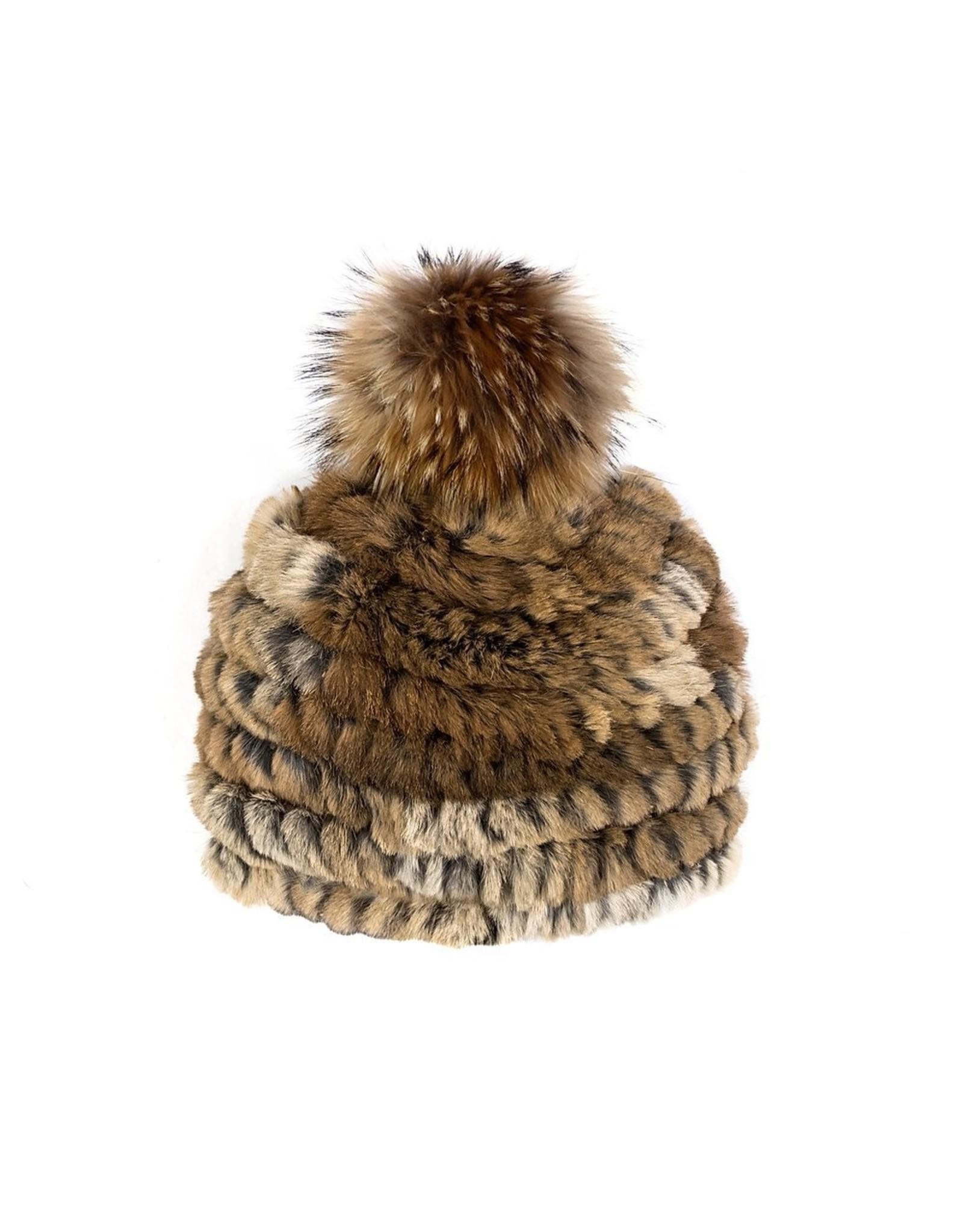 Rabbit Hat Fox Pom-Pom