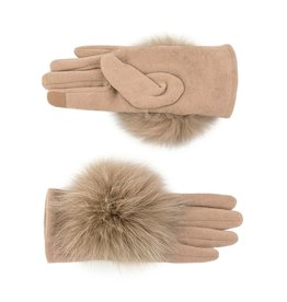 Gloves with Fox  Fur