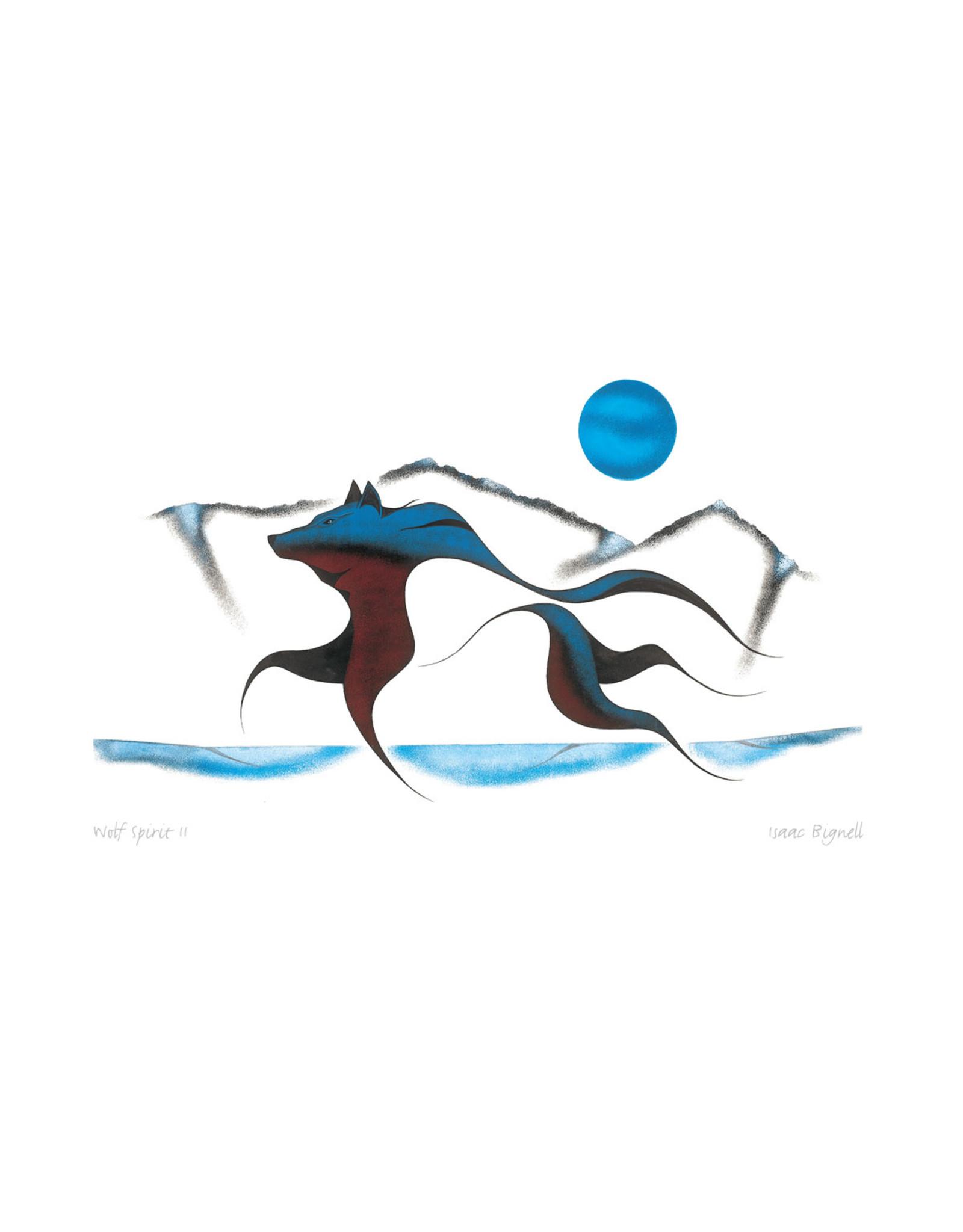 Wolf Spirit II by Isaac Bignell Card