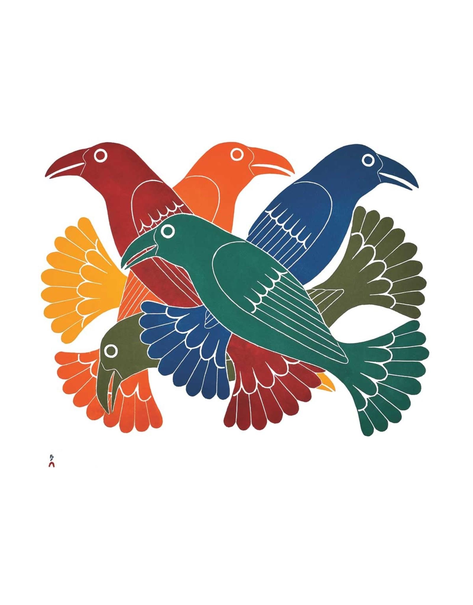 Spectacular Ravens by Kenojuak Ashevak Card