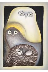 Owls in Moonlight par Ningeokuluk Teevee carte