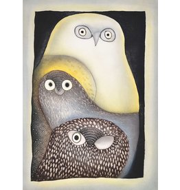 Owls in Moonlight by Ningeokuluk Teevee card