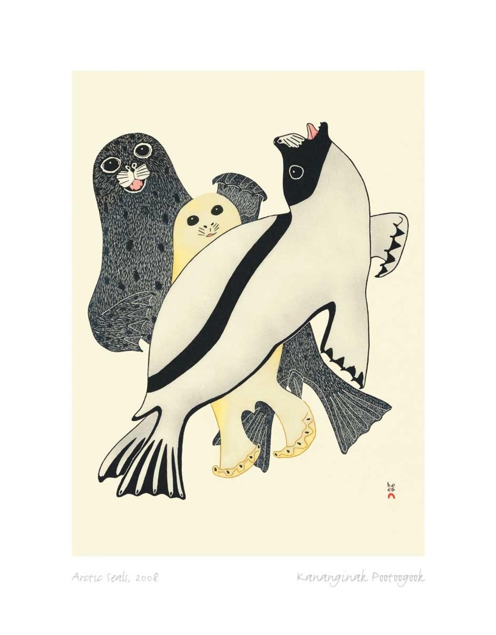 Arctic Seals by Kananginak Pootoogook Card