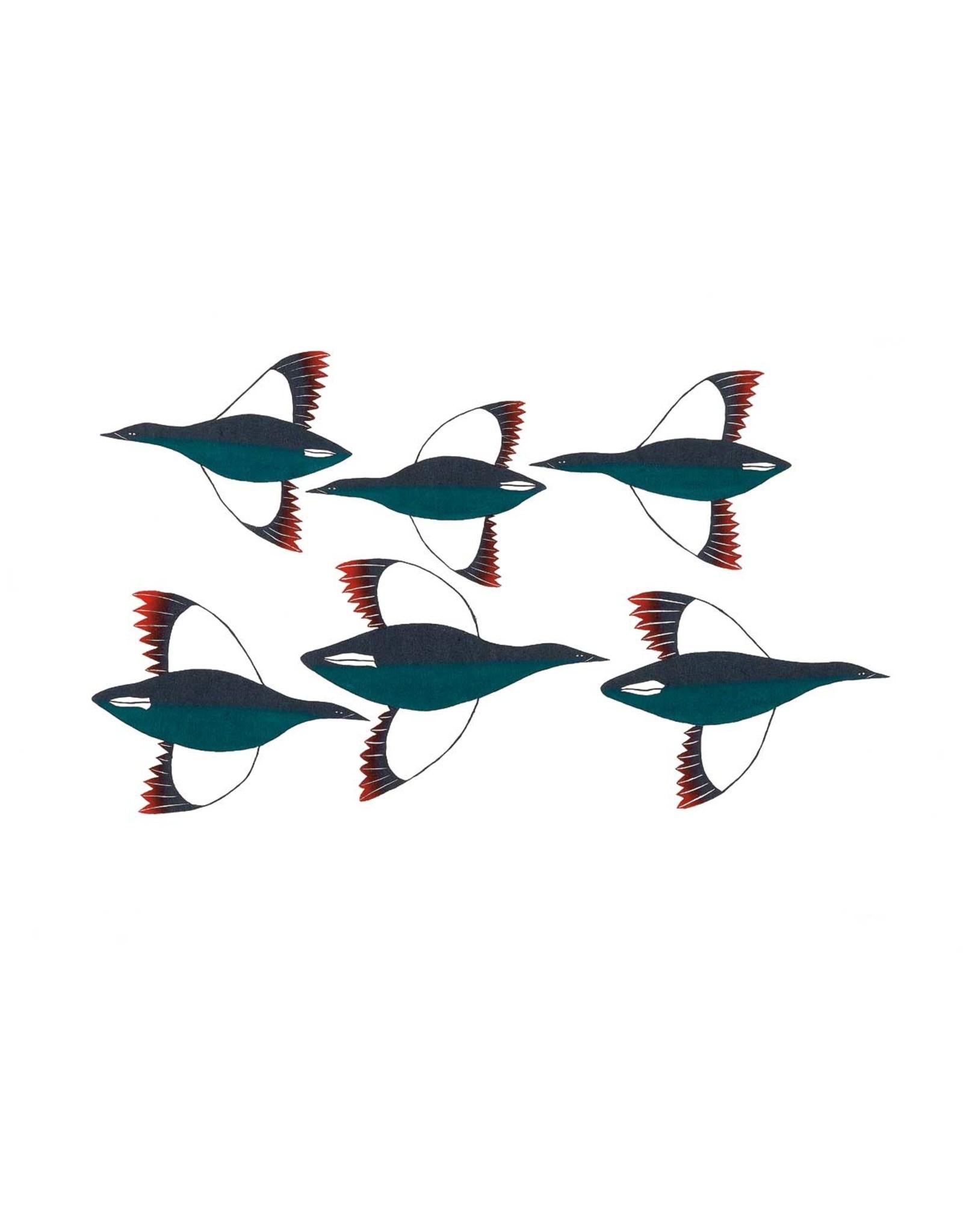 Cross Migration by Ningeokuluk Teevee Card