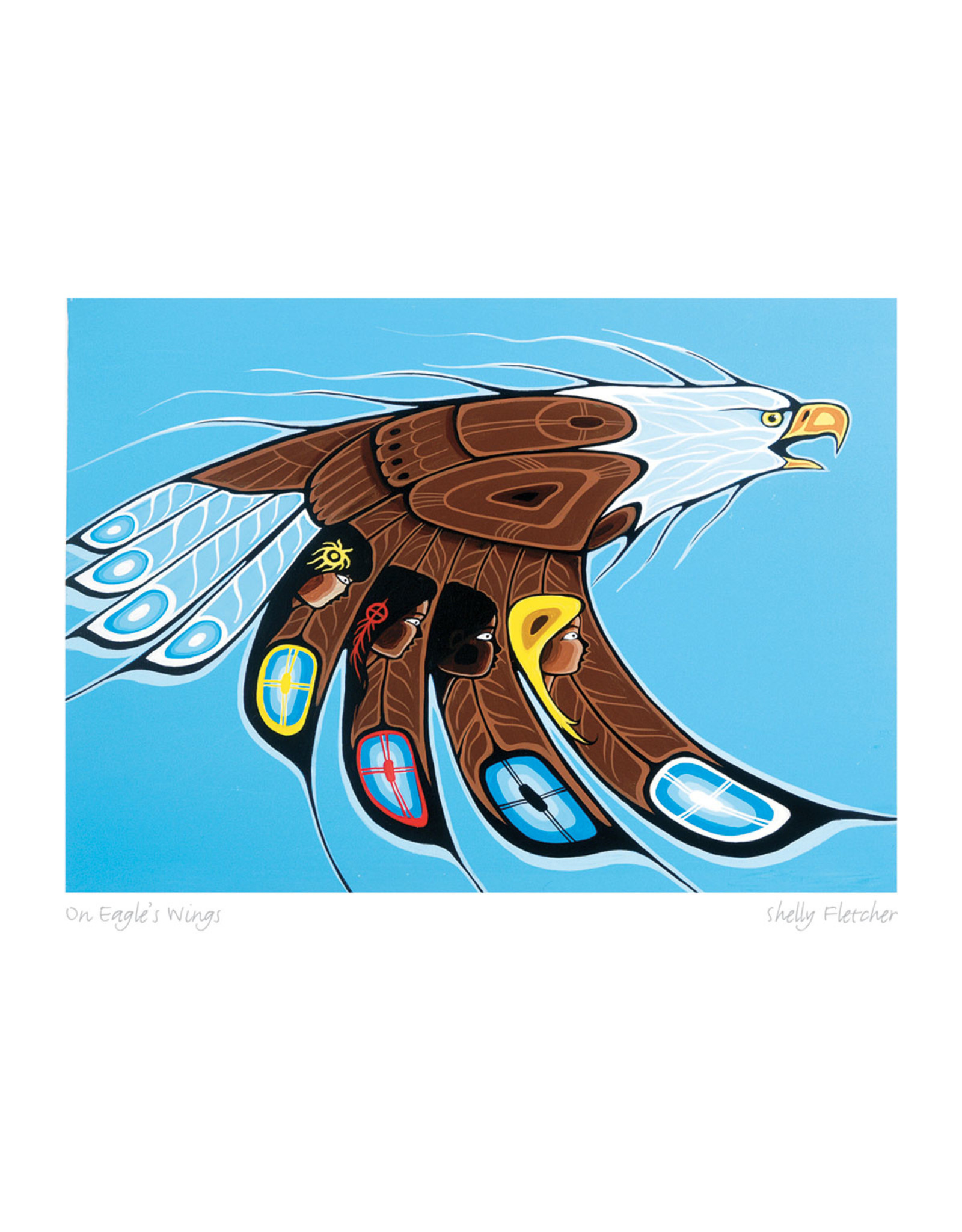 On Eagle's Wings by Shelly Fletcher Card