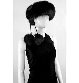 Fox Scarf/Headband with Pompoms