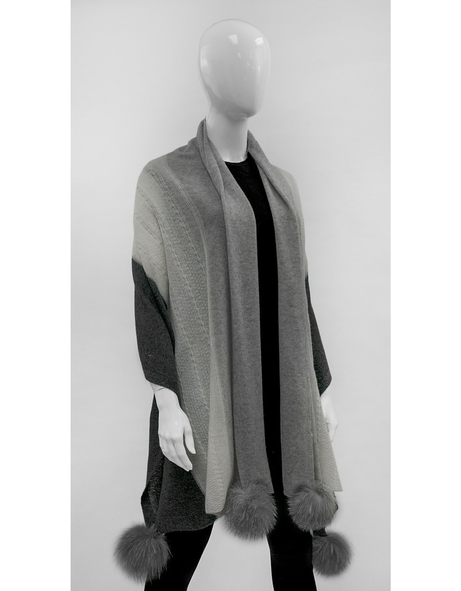 Cashmere Scarf with Fox Fur