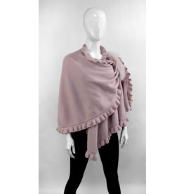 Wool Wrap with Ruffles and Fox