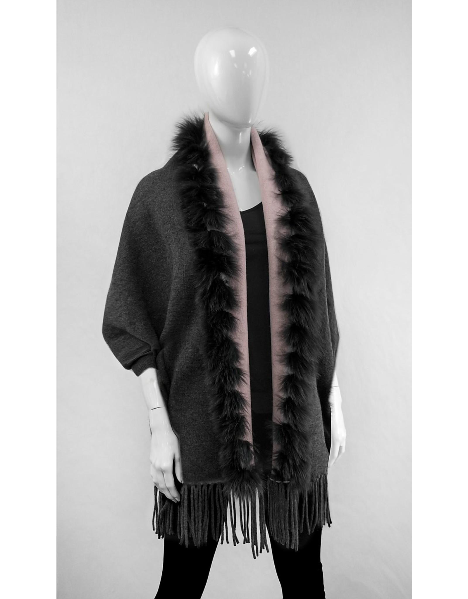 Double Sided Wool & Fox Wrap - IMW38