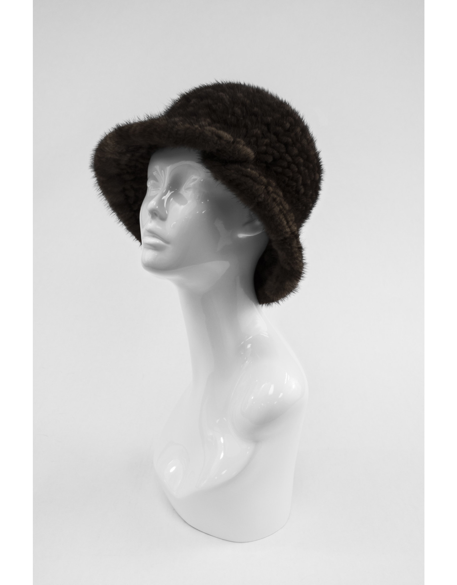 Knitted Mink Hat