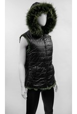 Reversible Rabbit Fur Vest - VTJEV1