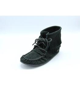 Black Suede Fringe Boot