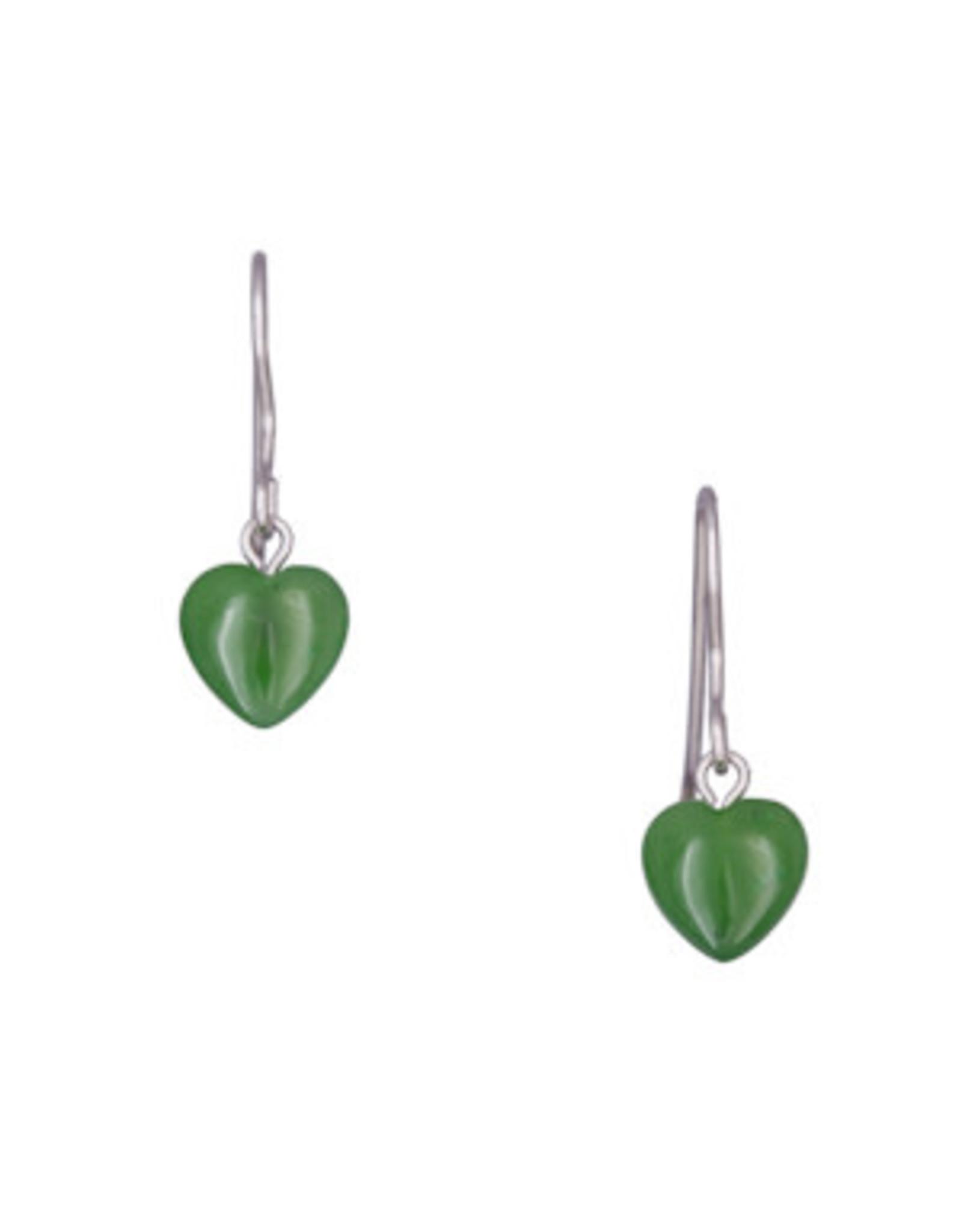 Boucle D'oreille en Jade (Coeur) - JDS66