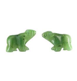 Boucle D'oreille en Jade (Ours)