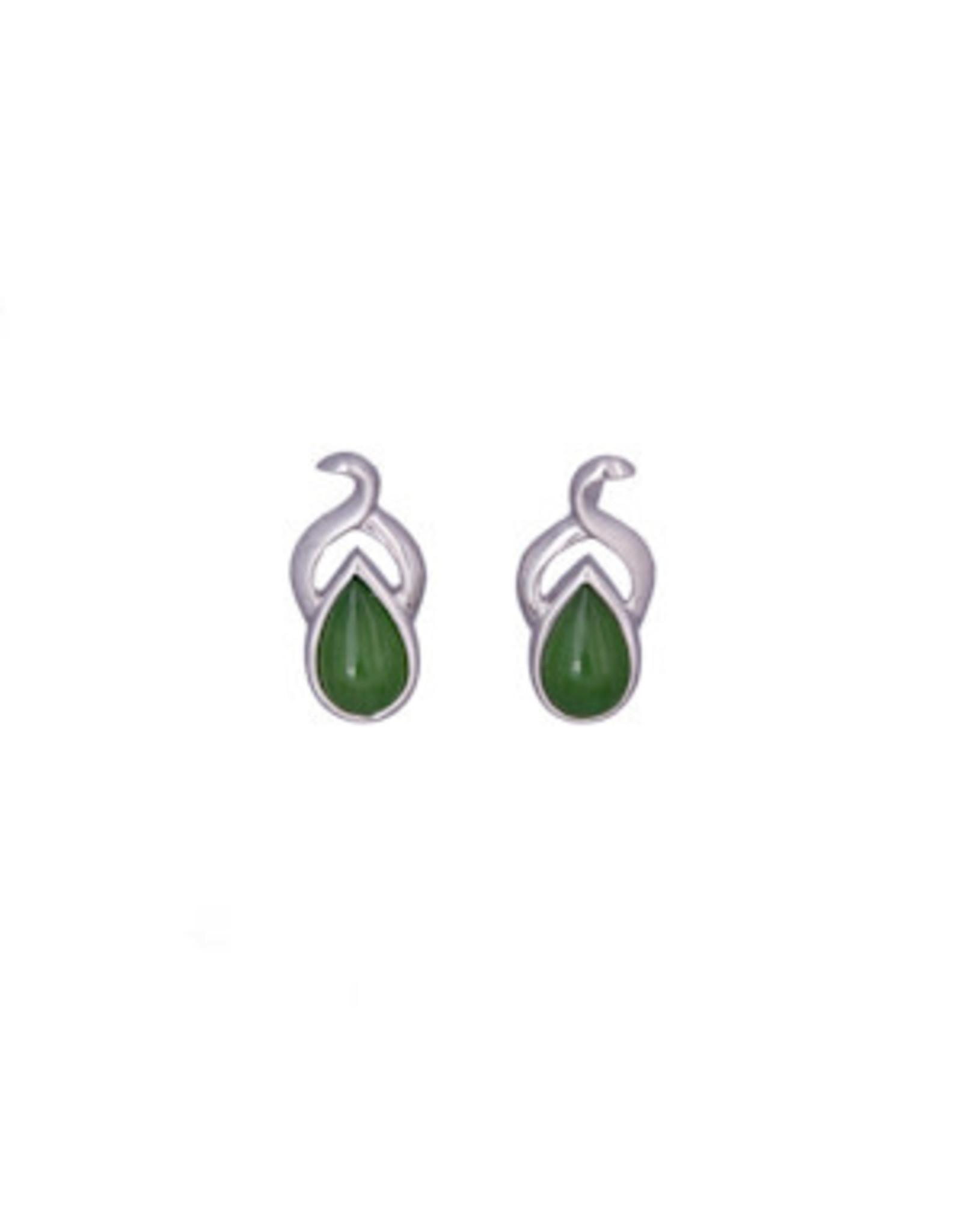 Jade Teardrop Earrings JES47