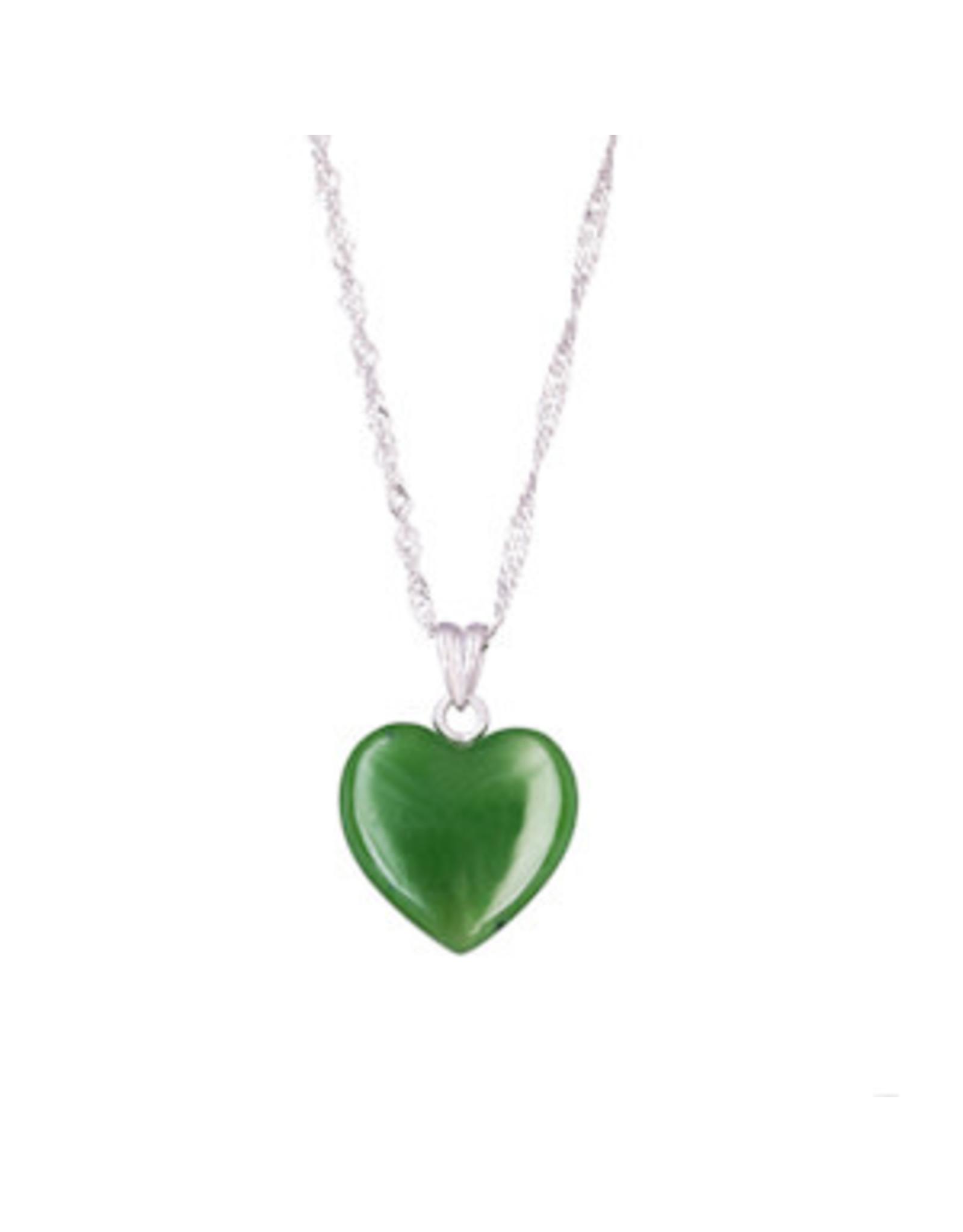 Heart Jade Necklace - JPS114