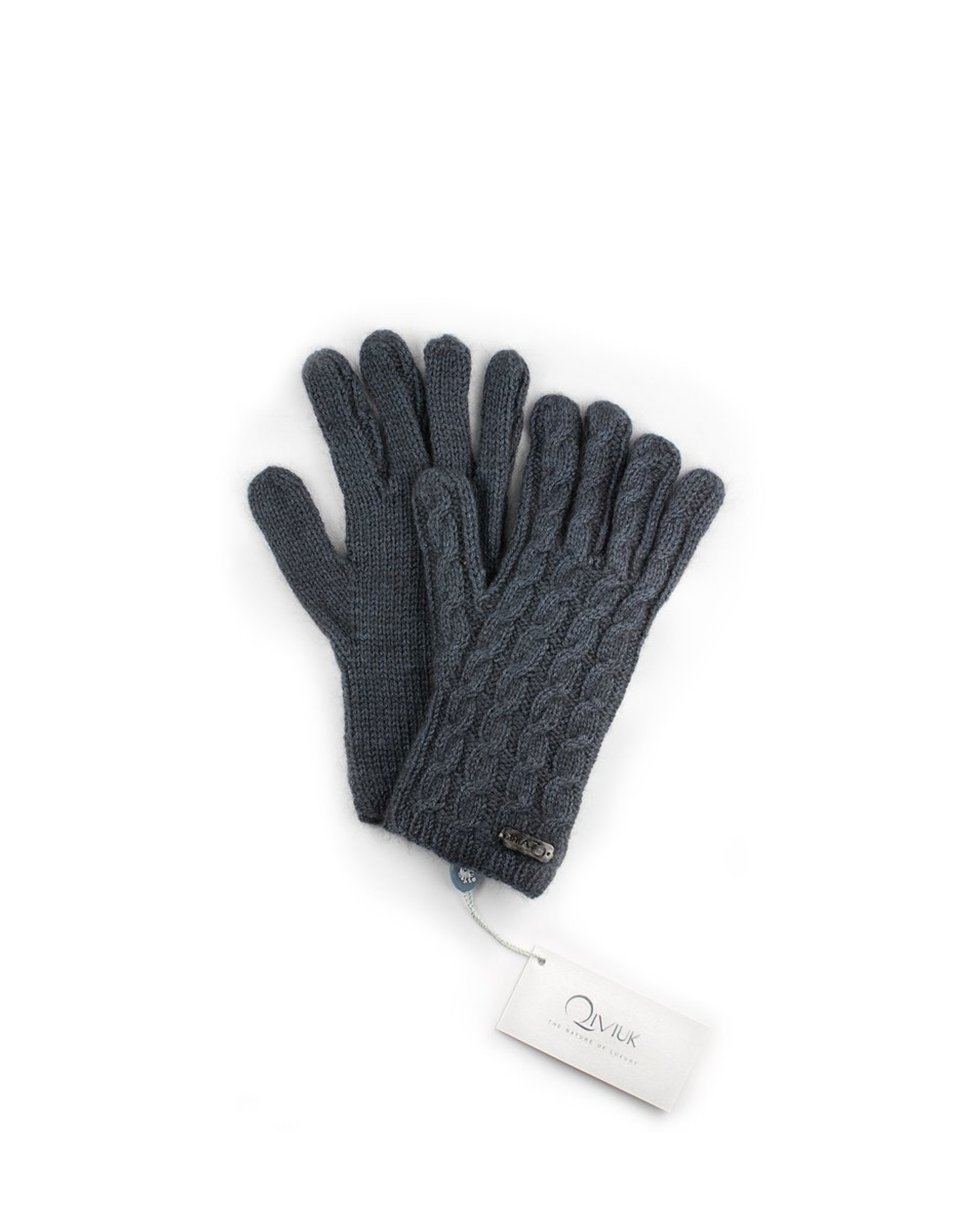 Cable Gloves - 45% Qiviuk 45% Merino 10% Silk