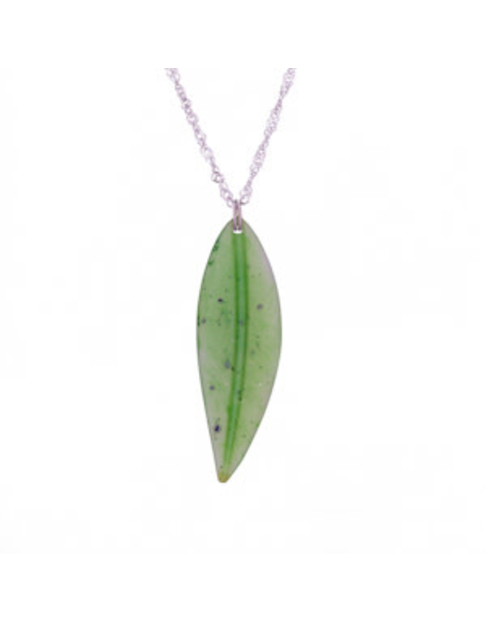Jade Leaf Necklace - JPS109