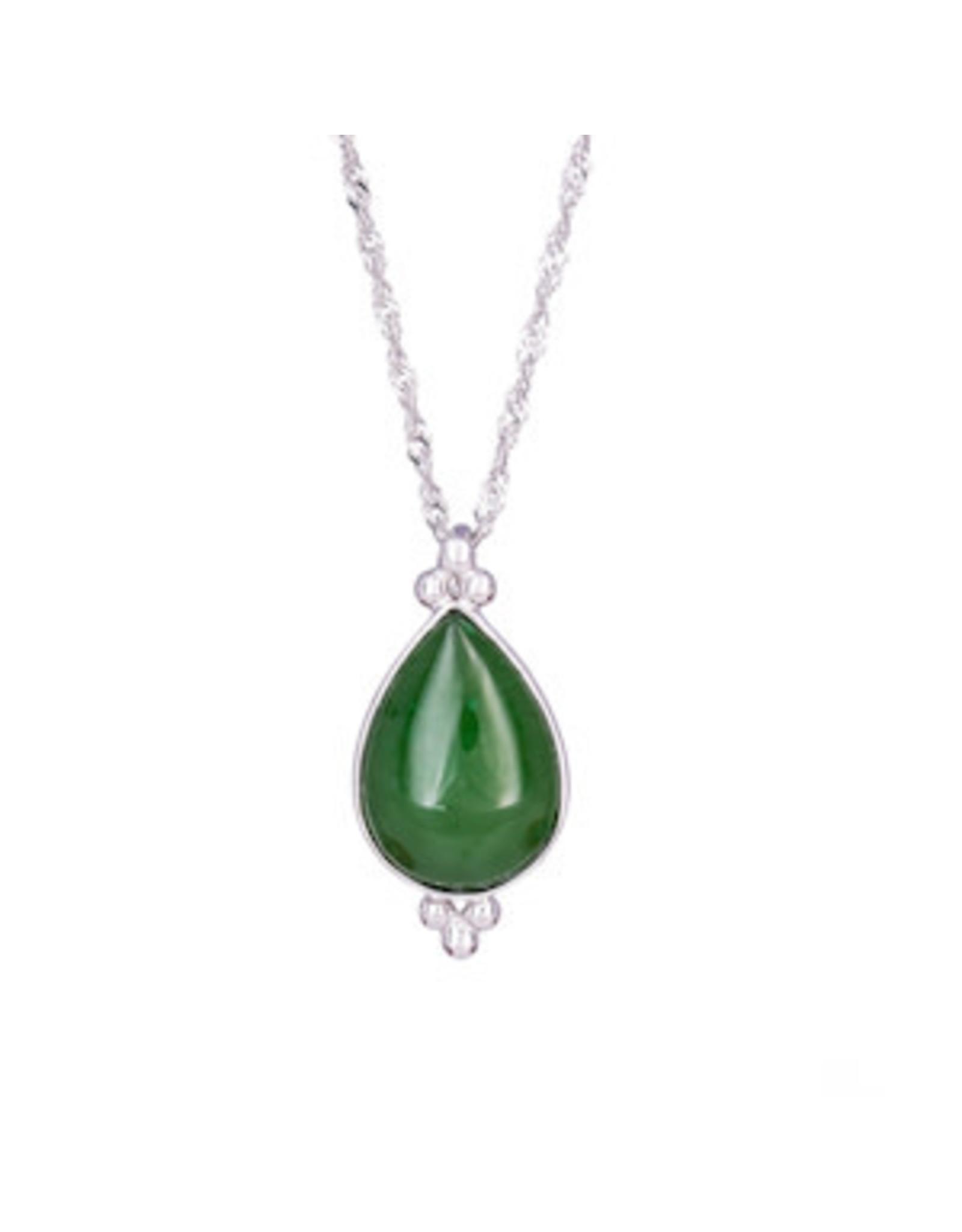 Jade Pear Pendant JPS90