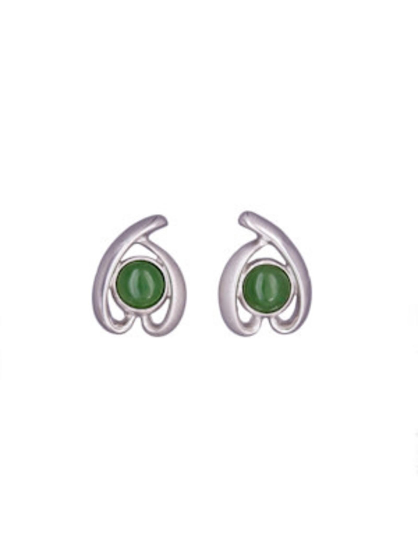 Jade Round Post Earrings JES43