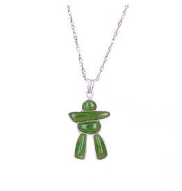 Jade Inukshuk Necklace