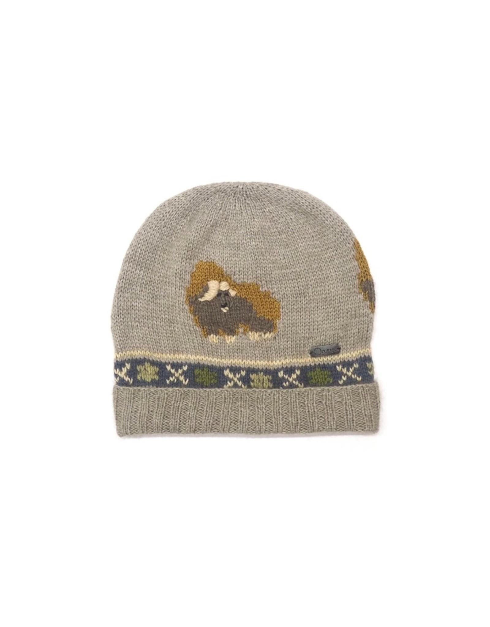 Muskox Hat - 45% Qiviuk 45% Merino 10% Silk