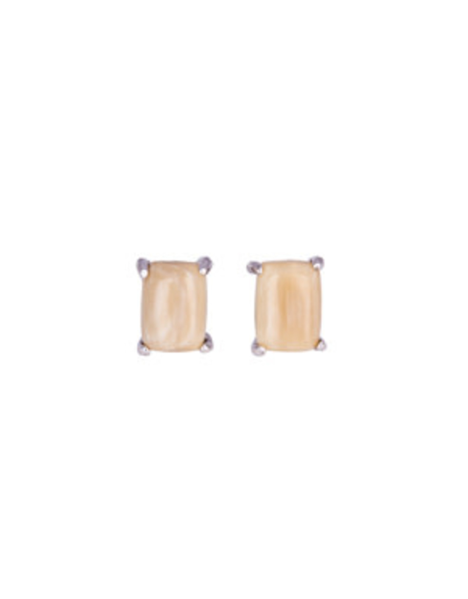 Rectangle Mammoth Ivory Earrings - MES58
