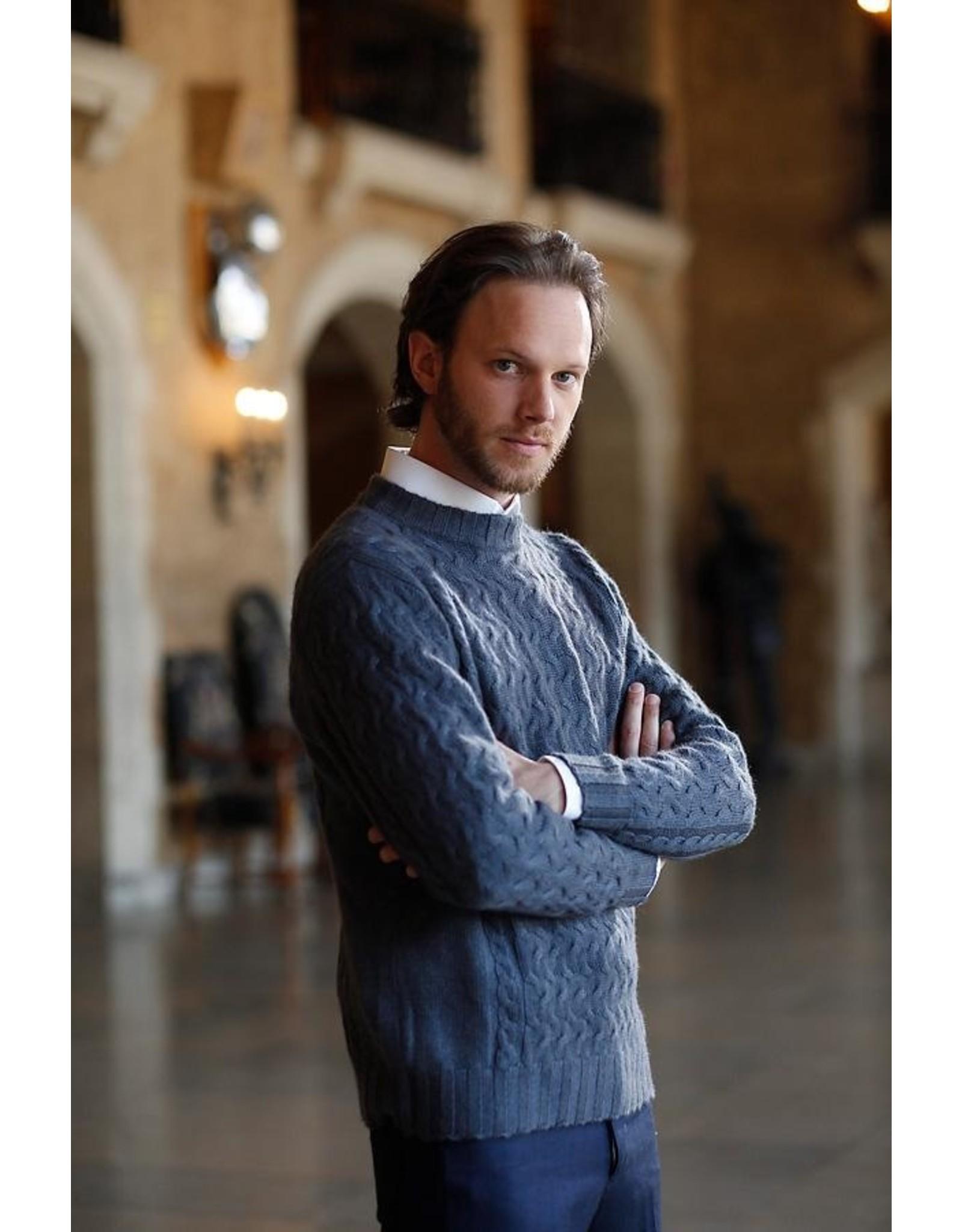 Fantasia Men's Sweater - 45% Qiviuk 45% Merino 10% Silk