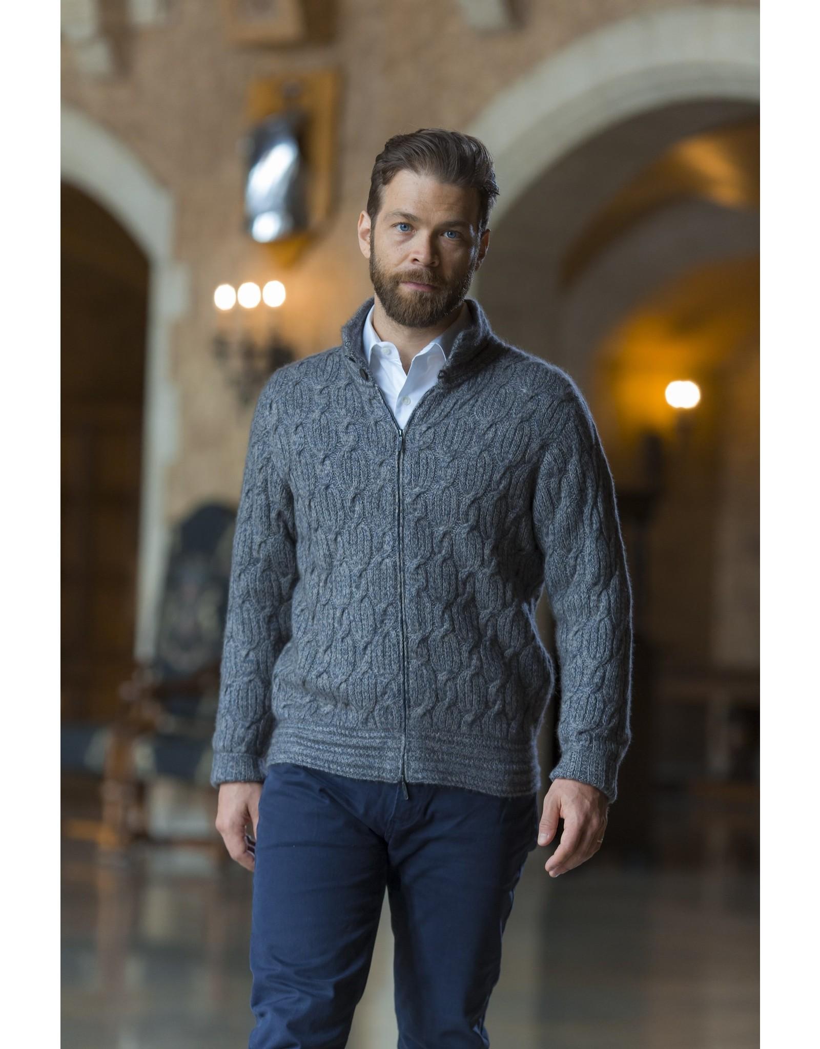 Robert Zip Sweater - 45% Qiviuk 45% Merino 10% Silk