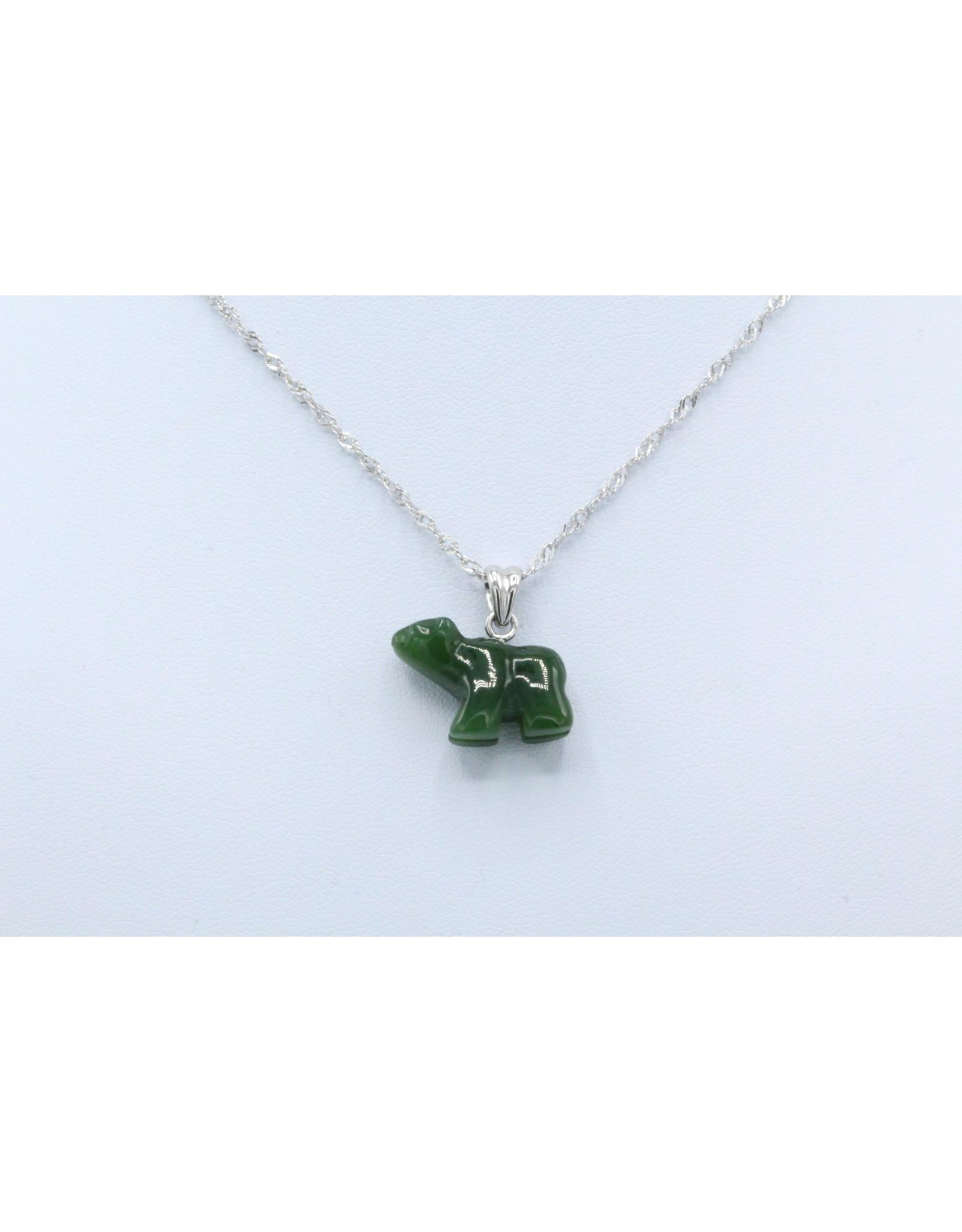 Jade Bear Necklace - JPS59
