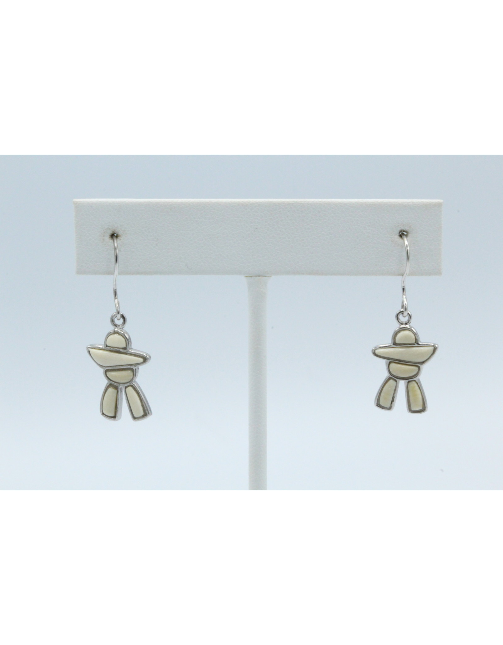 Inukshuk Mammoth Ivory Earrings Silver - MES57