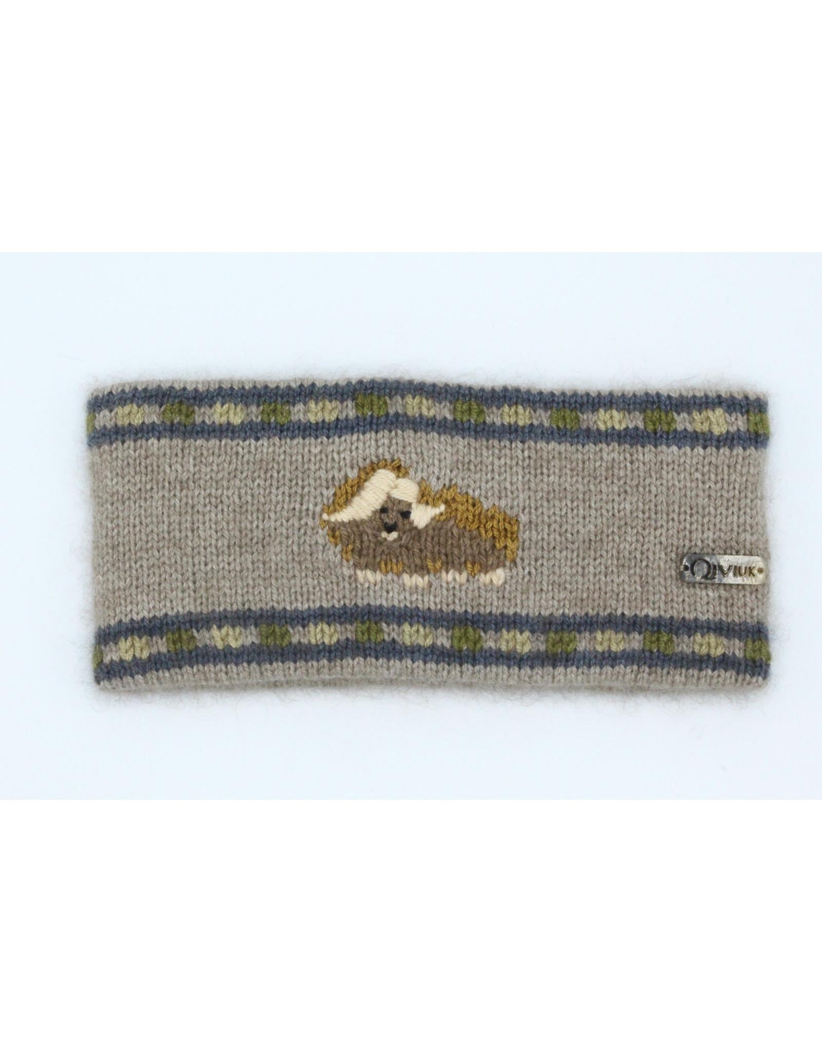Muskox Headband - 45% Qiviuk 45% Merino 10% Silk