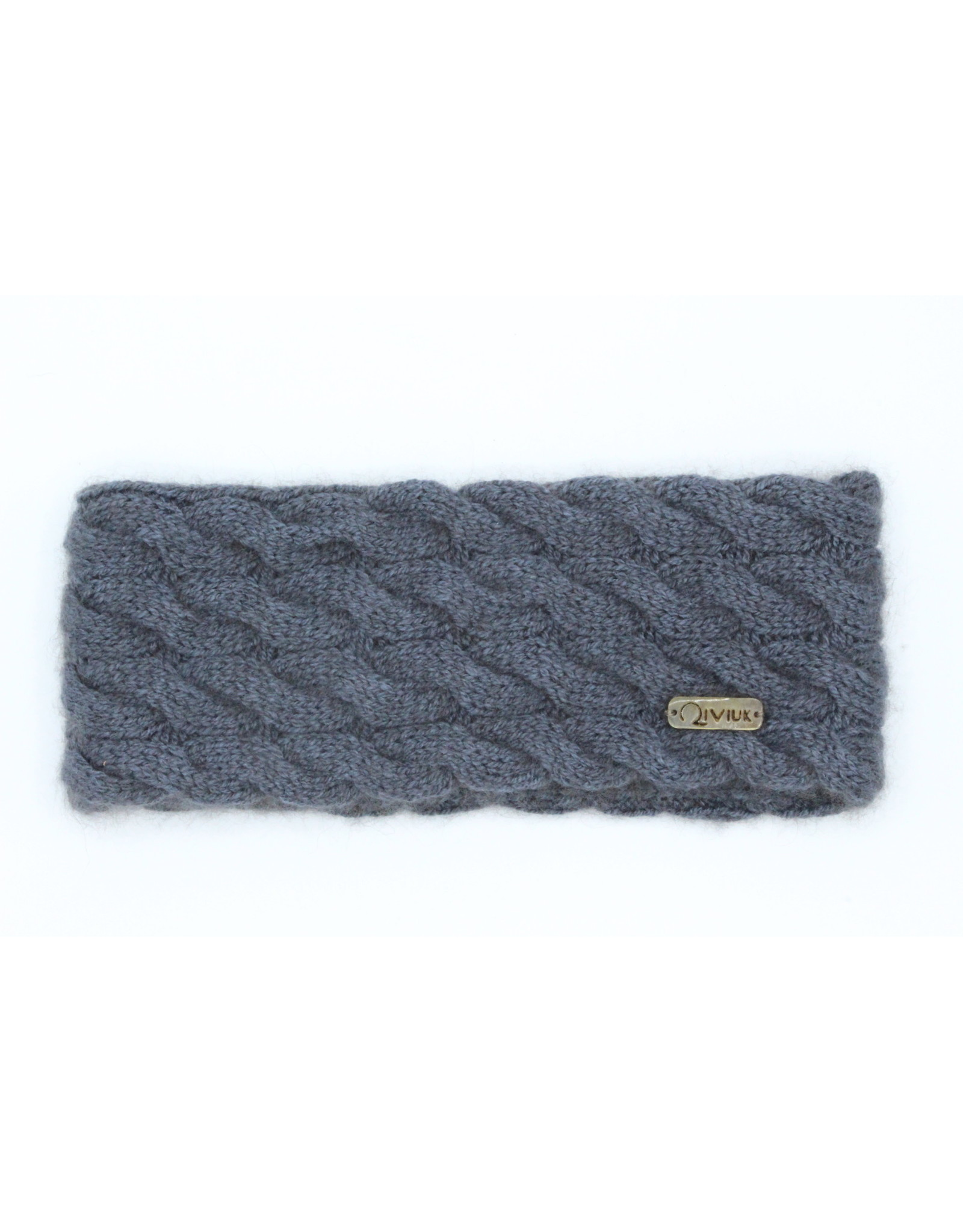 Cable Headband - 45% Qiviuk 45% Merino 10%Silk