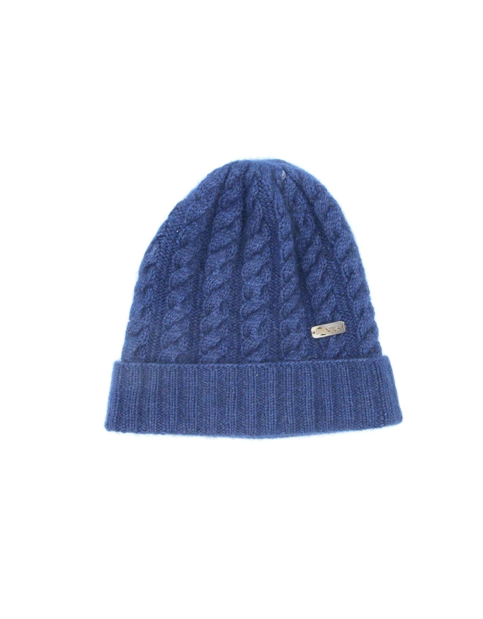 Cable Hat - 45% Qiviuk 45% Merino 10% Silk